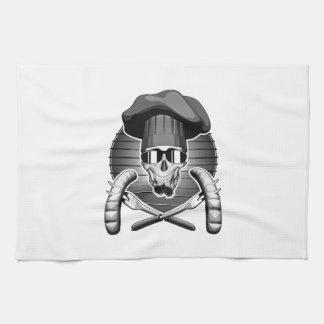 Cráneo del cocinero: Griller Toalla De Cocina