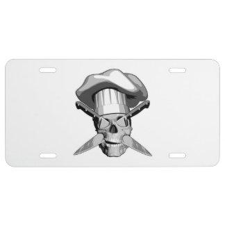Cráneo del cocinero placa de matrícula