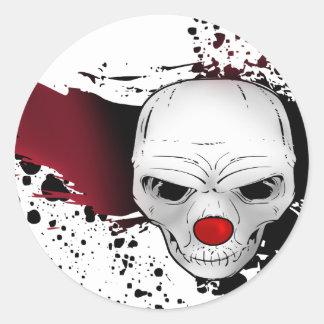 cráneo del comodín pegatina redonda