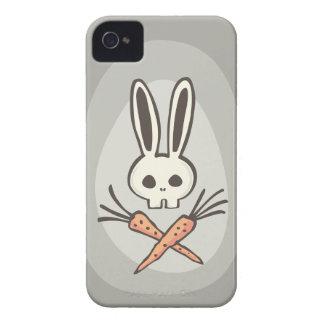 Cráneo del conejito del dibujo animado y caso de iPhone 4 protector