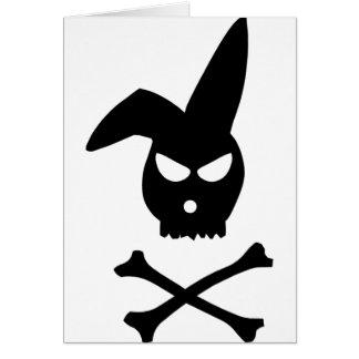 Cráneo del conejo tarjeta de felicitación
