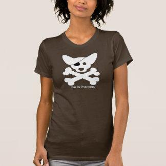 Cráneo del Corgi y camiseta de las señoras de la Remeras