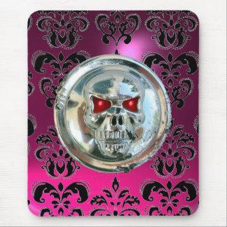 CRÁNEO del CROMO, rosa del damasco, amatista Mousepads