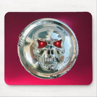 CRÁNEO del CROMO, rubí rosado rojo Mousepads