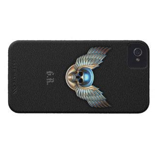 Cráneo del cromo y caja intrépida de Blackberry de iPhone 4 Case-Mate Carcasas