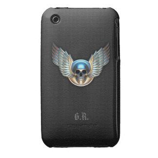 Cráneo del cromo y caso del iPhone 3G/3GS de las iPhone 3 Carcasa