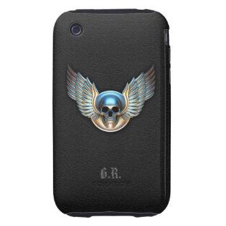 Cráneo del cromo y caso del iPhone 3G/3GS de las iPhone 3 Tough Carcasa