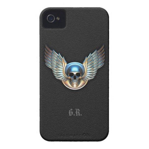 Cráneo del cromo y caso del iPhone 4/4s de las Case-Mate iPhone 4 Coberturas