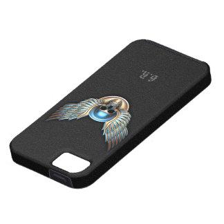Cráneo del cromo y caso del iPhone 5 de las alas iPhone 5 Funda