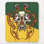 Cráneo del Cyborg con los colmillos Alfombrilla De Raton
