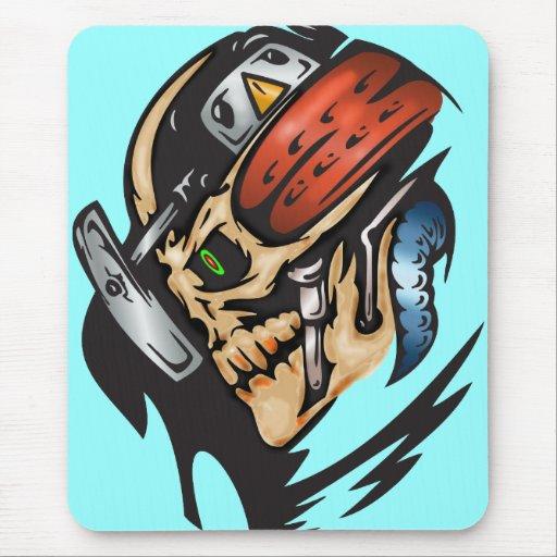 Cráneo del Cyborg en batalla Tapete De Ratón