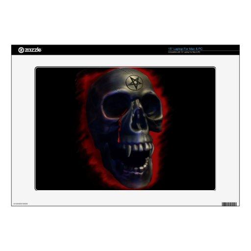 Cráneo del demonio calcomanías para 38,1cm portátiles