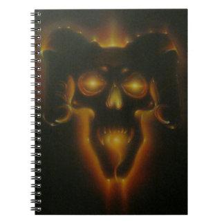 Cráneo del demonio libro de apuntes