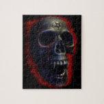 Cráneo del demonio rompecabeza con fotos