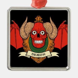 Cráneo del diablo del demonio con las alas del pal ornamentos para reyes magos