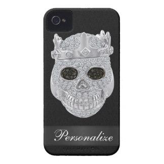 Cráneo del diamante con el caso del iPhone 4 del n iPhone 4 Case-Mate Carcasas