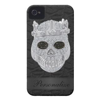 Cráneo del diamante con el caso del iPhone 4 del n iPhone 4 Fundas