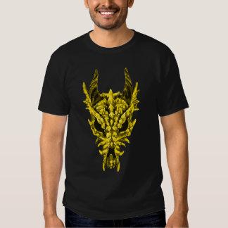 Cráneo del dragón del oro playera