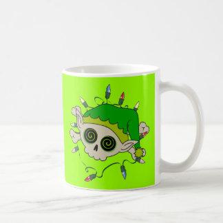 Cráneo del duende taza de café