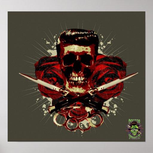 Cráneo del engrasador poster