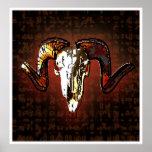 cráneo del espolón posters