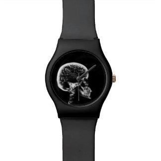 Cráneo del esqueleto de Vision de la radiografía Relojes De Pulsera