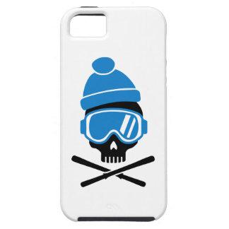 Cráneo del esquí funda para iPhone 5 tough