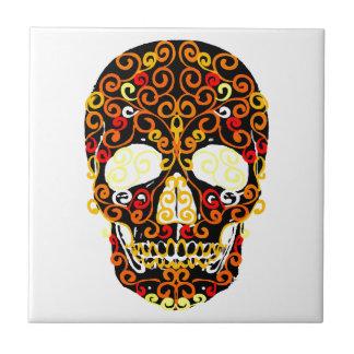 cráneo del estallido azulejo cuadrado pequeño