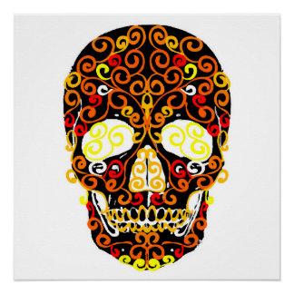 cráneo del estallido perfect poster