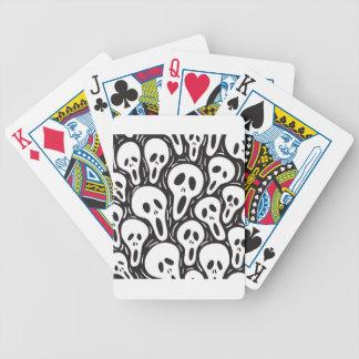Cráneo del fantasma barajas de cartas