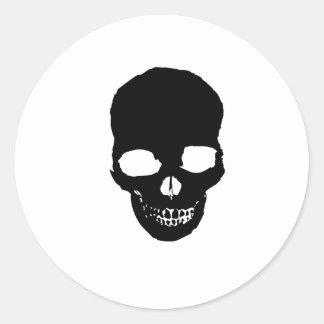 Cráneo del fantasma etiquetas redondas
