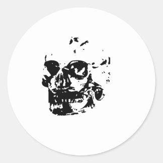 Cráneo del fantasma pegatinas redondas