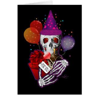 Cráneo del fiesta felicitación
