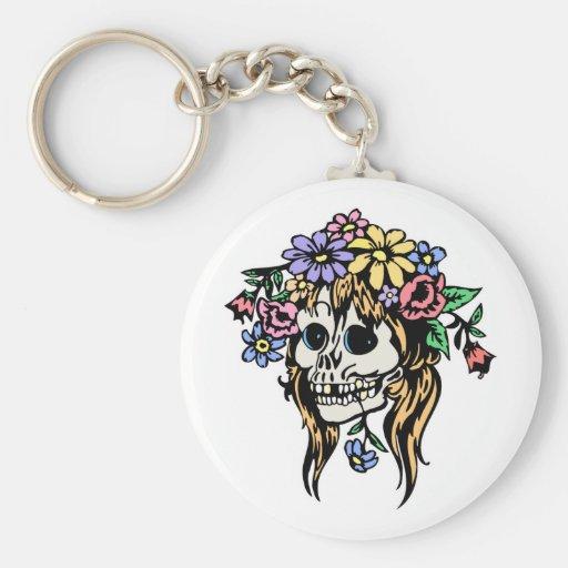 cráneo del florista llavero personalizado