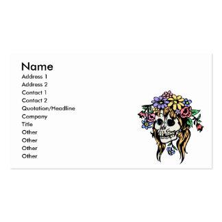 cráneo del florista tarjetas de visita