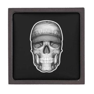Cráneo del fontanero caja de recuerdo de calidad