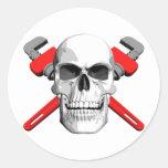 Cráneo del fontanero etiqueta