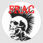 cráneo del frac etiqueta