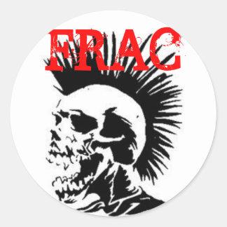 cráneo del frac etiqueta redonda