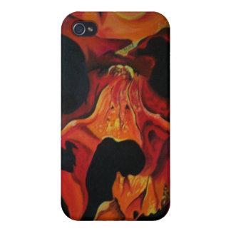 cráneo del fuego iPhone 4 protector