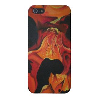 cráneo del fuego iPhone 5 protectores