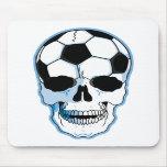 Cráneo del fútbol alfombrillas de ratones