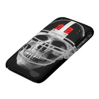 Cráneo del fútbol Case-Mate iPhone 3 protectores