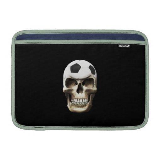 Cráneo del fútbol (fútbol) funda macbook air