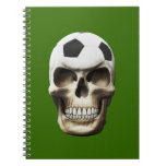 Cráneo del fútbol (fútbol) libreta espiral