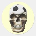 Cráneo del fútbol (fútbol) pegatinas