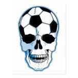 Cráneo del fútbol postales