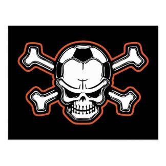 Cráneo del fútbol tarjetas postales