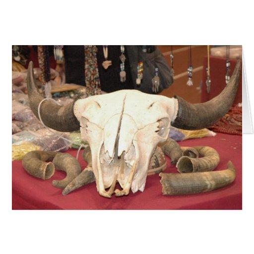 Cráneo del ganado felicitaciones