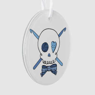 Cráneo del ganchillo (azul)